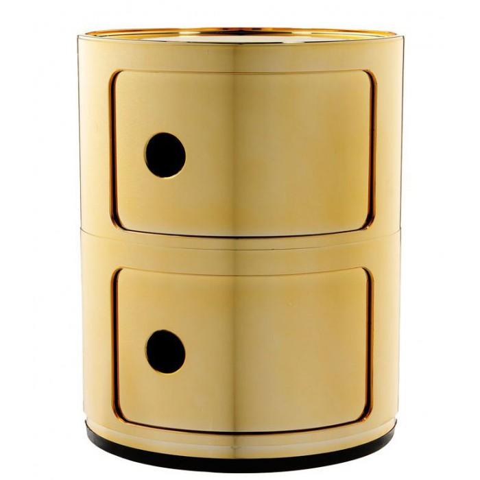 Meuble de rangement Componibili 2 tiroirs m?tallis? - KARTELL - oralto-shop.com