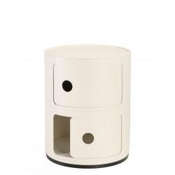 Meuble de rangement Componibili 2 tiroirs finition mate - KARTELL - oralto-shop.com