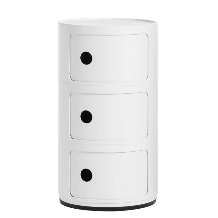 Meuble de rangement Componibili 3 tiroirs finition mate - KARTELL - oralto-shop.com