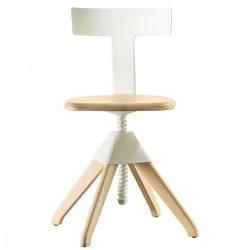 Chaise pivotante Tuffy / Bois & plastique - Hauteur réglable - MAGIS - oralto-shop.com