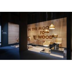 Fauteuil King Wood en bois moul? et cuir / Dossier haut  - KARTELL - oralto-shop.com