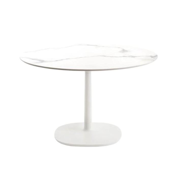 Table ronde Multiplo / Gr?s effet marbre - ? 118 cm - KARTELL - oralto-shop.com