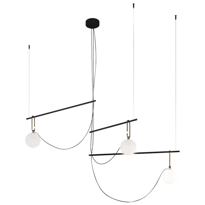 Suspension Nh S3 Cluster / Globes ? 14 - L 117 cm - ARTEMIDE - oralto-shop.com
