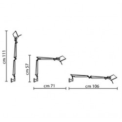 Applique Tolomeo mini Wall  / Bras articul? - L 71 cm - ARTEMIDE - oralto-shop.com