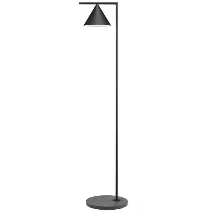 Lampadaire Captain Flint Outdoor LED / H 154 cm - Orientable - Base pierre - Flos - oralto-shop.com