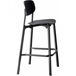 Chaise haute Colander/ H66cm / Polypropyl?ne perfor? - Kristalia - oralto-shop.com