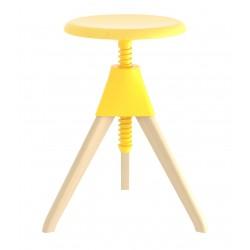 Tabouret Jerry / H 50 - 66 cm - Bois & plastique - Magis - oralto-shop.com