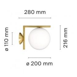 Applique IC W1 / ? 20 cm - Flos - oralto-shop.com