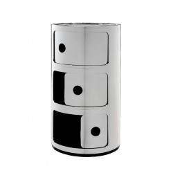 Meuble de rangement Componibili 3 tiroirs m?tallis? - KARTELL - oralto-shop.com